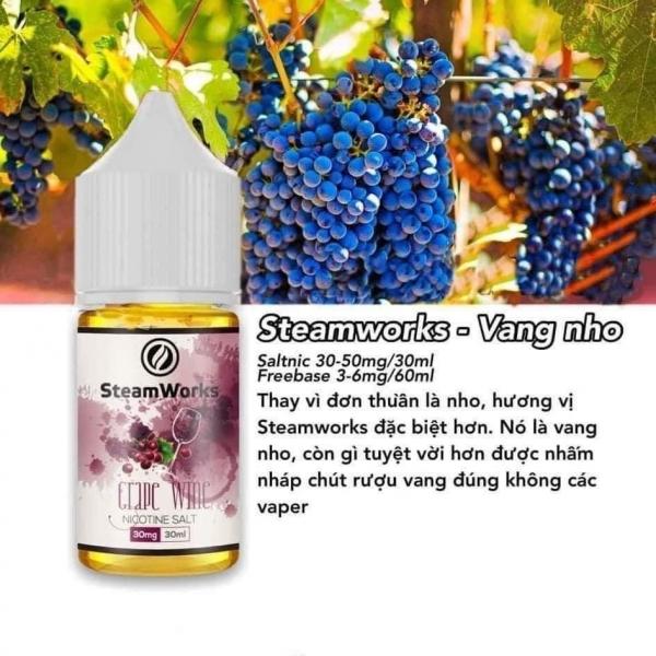 Salt SteamWork Vang Nho Lạnh 50MG